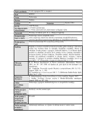 Naziv predmeta Uvod i egzegeza NZ–a: sinoptici Kod KBF401 Vrsta ...