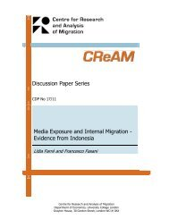 Media Exposure and Internal Migration - Evidence from Indonesia
