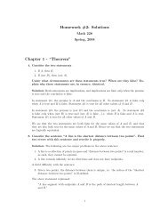"Homework #2: Solutions Chapter 1 - ""Theorem"""