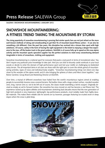 snowshoe-mountaineering - Salewa