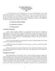 1 LES TROIS TRIBUNAUX - L'OPINION PUBLIQUE - LA ...