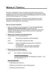 MERKBLATT TODESFALL - Biberstein