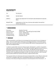 Vehicle Lease Agreement - Empire State Development