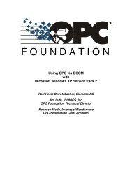 Using OPC via DCOM with Microsoft Windows XP Service Pack 2