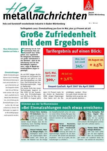 Metallnachrichten Holz und Kunststoff 3/2007 - IG Metall Baden ...