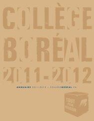 ANNUAIRE 2011-2012 ~ COLLEGE BOREAL .CA - Collège Boréal
