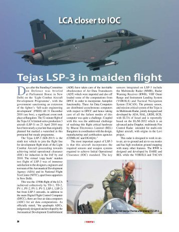 Tejas LSP-3 in maiden flight - Vayu Aerospace