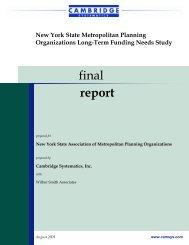 Transportation Needs - New York State Association of Metropolitan ...