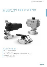 Swagelok® 대체 연료용 AFS 볼 밸브고압 대유량 분야용 Swagelok ...