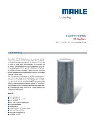 Staubfilterelement 115 NZ/NZC - MAHLE Industry - Filtration