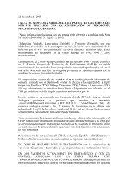 22 de octubre de 2003 FALTA DE RESPUESTA VIROLÓGICA EN ...