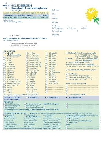 Diabetes1-Nyregistrering-blodproveskjema3 - Helse Bergen