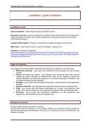 LexisNexis : guide d'utilisation - KFH