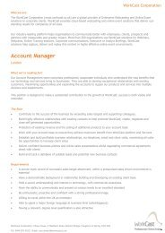 Account Manager - Workcast