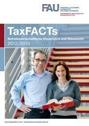 TaxFACTs - Lehrstuhl für Betriebswirtschaftslehre, insbesondere ...