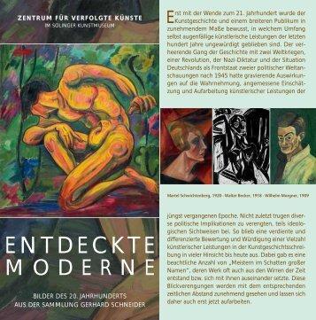Flyer zur Ausstellung - Entdeckte Moderne