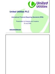 IFRS presentation to analysts and investors - About United Utilities