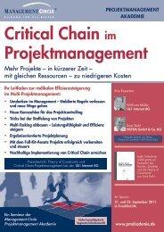 Seminar: Critical Chain im Projektmanagement ... - speed4projects