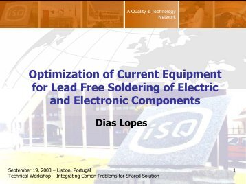 Optimization of Current Equipment for Lead Free Soldering of ...