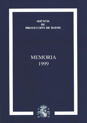 1999 - Agencia Española de Protección de Datos