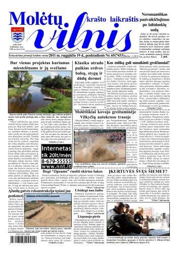 2011 m. rugpjūčio 19 d., penktadienis Nr.65 - 2013 - VILNIS