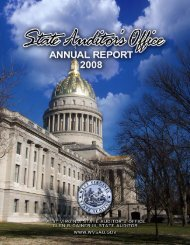 2008 Annual Report - West Virginia State Auditor's Office