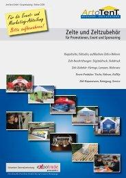 Zelte und Zeltzubehör - Artotent GmbH