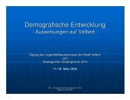 Demograhpische Entwicklung in Velbert - Die SPD im Kreis Mettmann