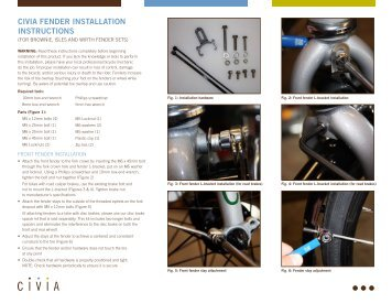 CIVIA FENDER INSTALLATION INSTRUCTIONS - Civia Cycles