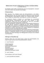 Medikamentöse Therapie und Management von Katzen mit ...