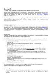 Quick guide til elektronisk indberetning af ... - Søfartsstyrelsen