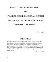 constitution and bylaws of pilgrim congregational church ... - Finalweb
