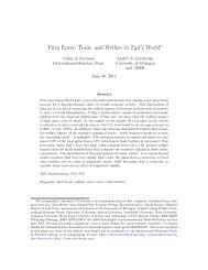Firm Entry, Trade, and Welfare in Zipf's World - Andrei Levchenko