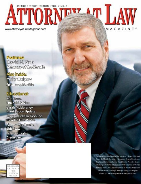 David H  Fink Yuliy Osipov - Health Law Partners, PC