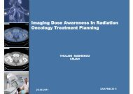 Imaging Dose Awareness In Radiation Oncology ... - eventsm.co.za