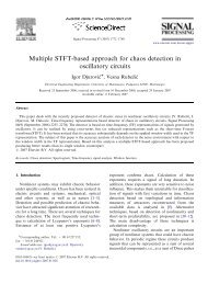 Multiple STFT-based approach for chaos detection in oscillatory ...