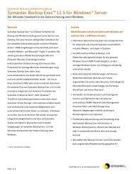 Symantec Backup Exec™ 12.5 Für Windows® Server - MaxData