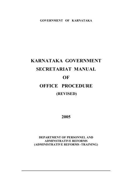 Central secretariat manual of office procedure.