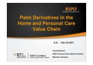 Palm Derivatives in the Home and Personal Care Value ... - RT9 2011