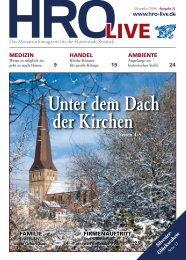 HROLIVE - HRO·LIFE - Das Magazin für die Hansestadt Rostock und