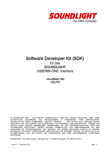 Software Developer Kit (SDK)