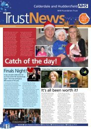 Calderdale And Huddersfield Trust News