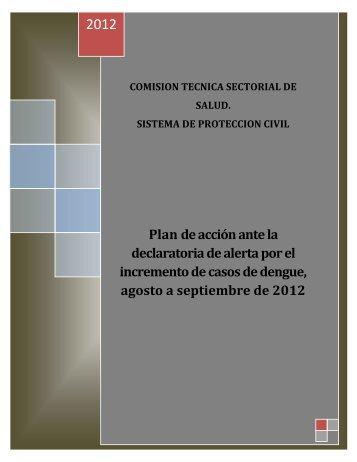 Plan de acción ante la declaratoria de alerta por el incremento de ...