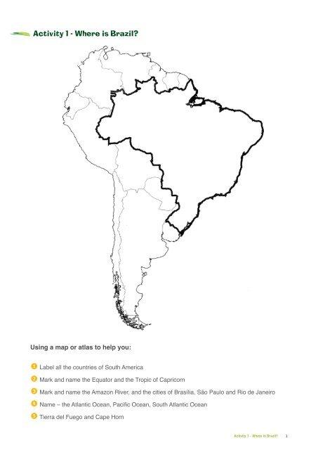 Activity 1 - Where is Brazil? - Embassy of Brazil in London