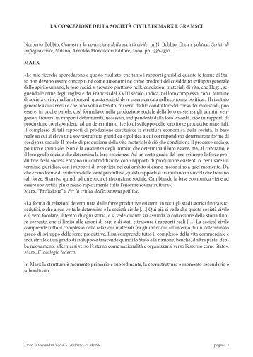 la concezione della società civile in marx e gramsci ... - Isisghilarza.it