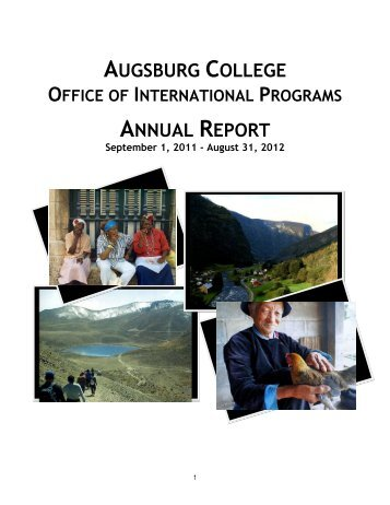 OIP Annual Report 2011-12 - Augsburg College