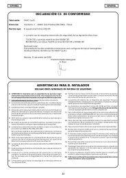 declaración ce de conformidad advertencias para el instalador - Faac