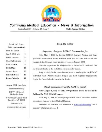 Continuing Medical Education - News & Information - The Regional ...