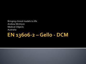EN 13606-2 – Gello - DCM - Ocean Informatics