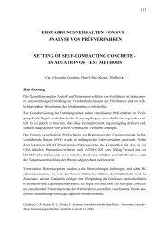 evaluation of test methods - Institut für Massivbau